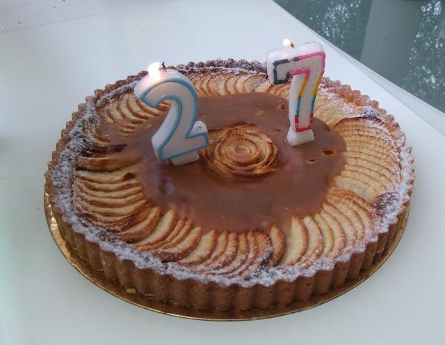 gâteau, pommes, anniversaire, bullelodie
