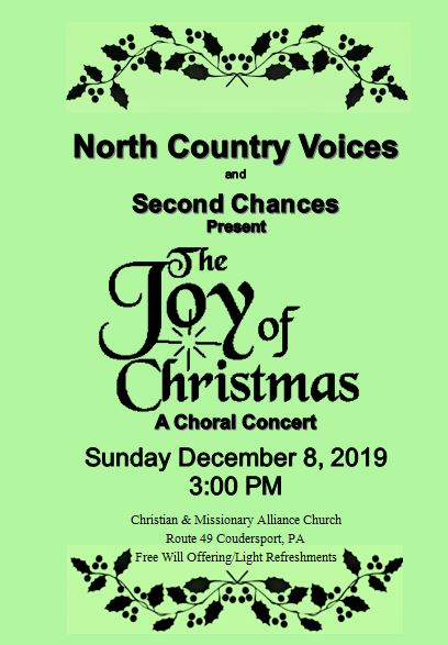 12-8 North Country Voices Choral Concert