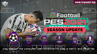 (500MB) PES 2021 Juventus Edition - Caméra PS5 hors ligne PPSSPP sur Android - Gratuit