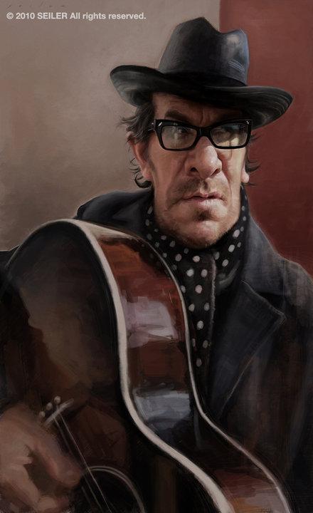 Elvis Costello por Jason Seiller