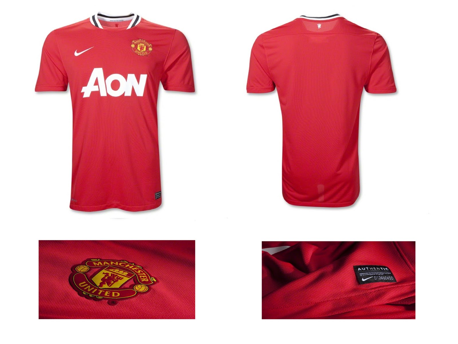 best cheap 706dc 45ef8 Jersey Kit: Manchester United Home Kit 2010/11