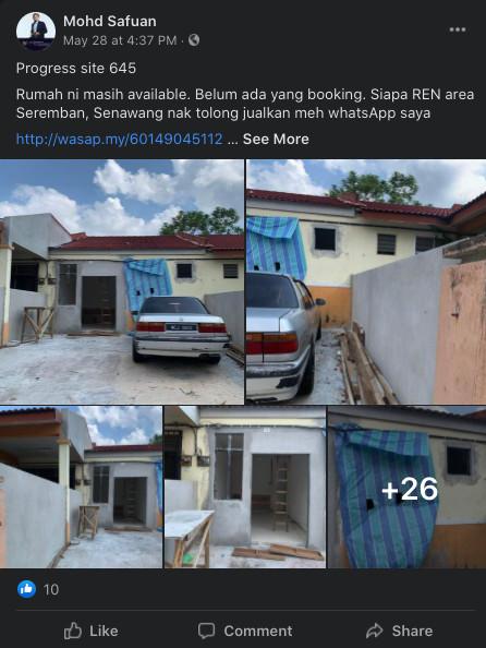 Contoh rumah busuk yang pernah diuruskan oleh tuan Mohd Safuan (Site no 645)