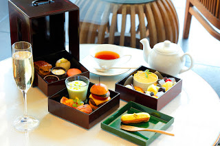 Afternoon tea at The Palace Lounge, Palace Hotel Tokyo