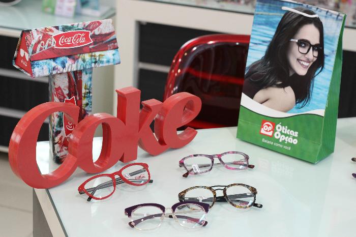 Óticas Opção, óculos coca-cola, Shopping Bela Vista