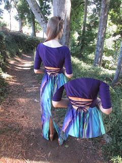 De top a vestido con falda larga (espalda)