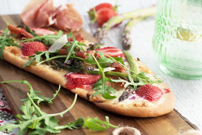 recette pizza asperge