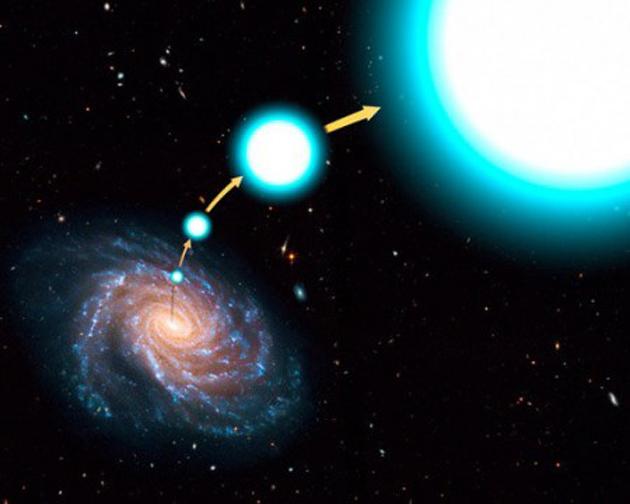 Una estrella se desprende de su galaxia