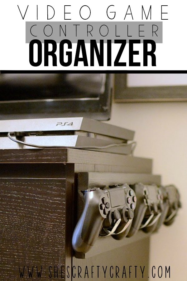 video game controller organizer- keep those video game controllers off every surface and put away