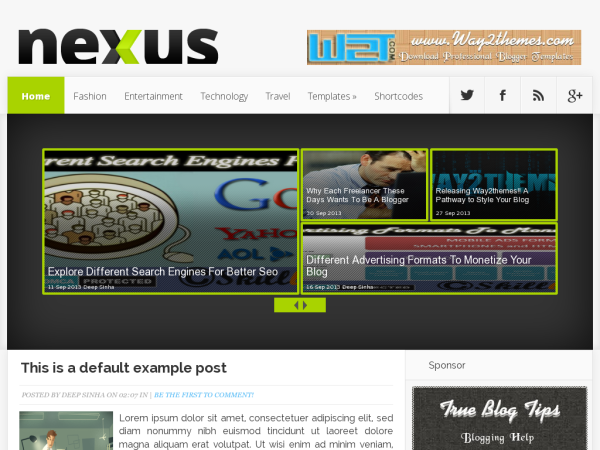 nexus professional responsive blogger template 2014