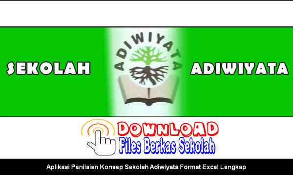 Download Aplikasi Penilaian Konsep Sekolah Adiwiyata Format Excel Lengkap