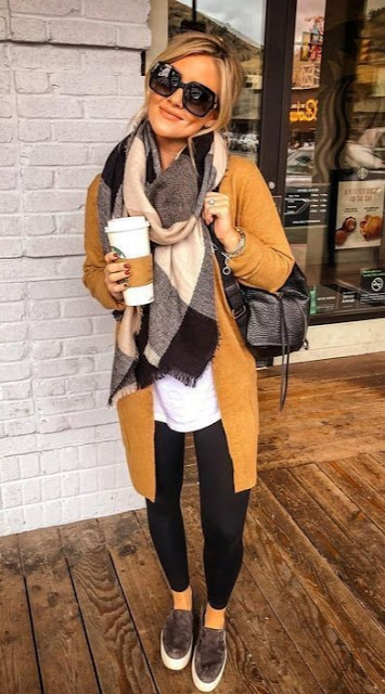 leggings winter outfit casual