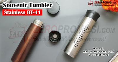 Souvenir Tumbler BT-41, Jual Water Bottle BT-41 450 ml Stainless, Thumbler Vacuum BT41, STAINLESS Tumbler Stainless