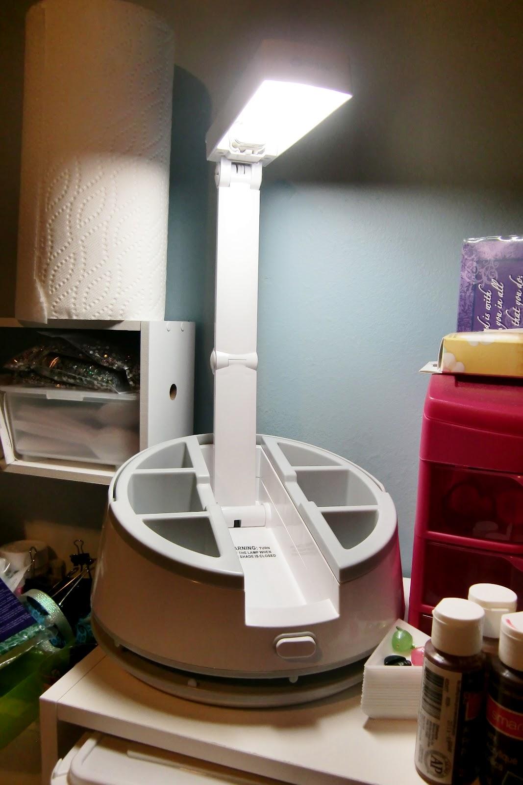 PinkPandaCraftShop: My lovely Craft Caddy Lamp from OttLite!