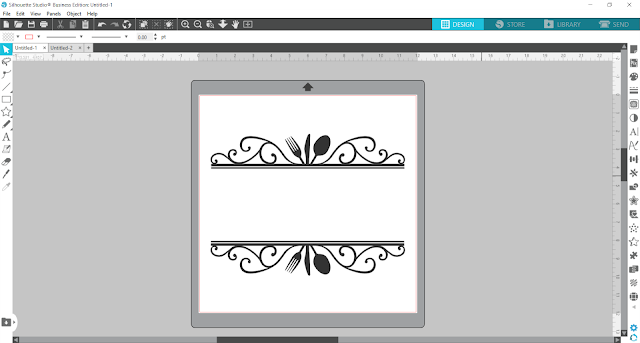 split monogram, monogram, custom designs, silhouette studio v4, align tool