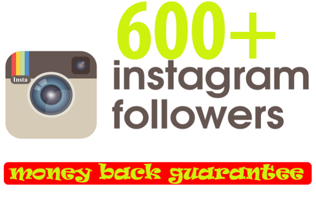 REAL 600 plus permanent Instagram Followers