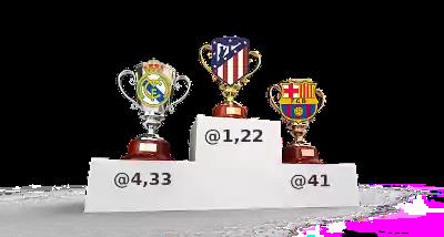 podium atlético, real madrid, barcelona y sus cuotas