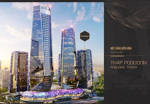 Mặt bằng thiết kế tòa căn hộ condotel dự án Sunshine Ks Finance Empire Ciputra Hà Nội tháp Poseidon tower