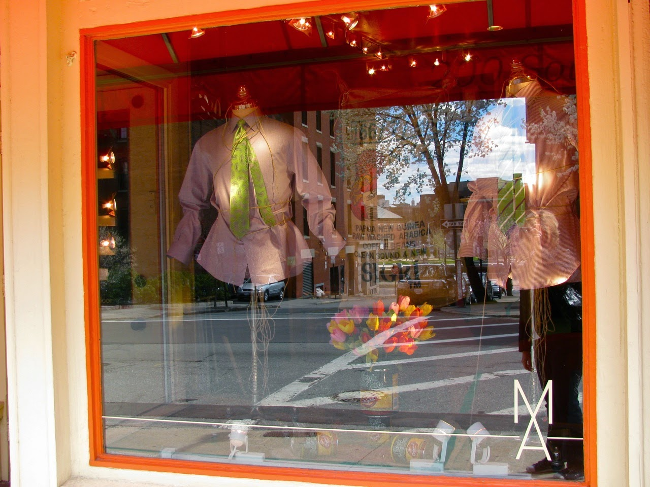 Orange-Window-Display-in-Providence,RI
