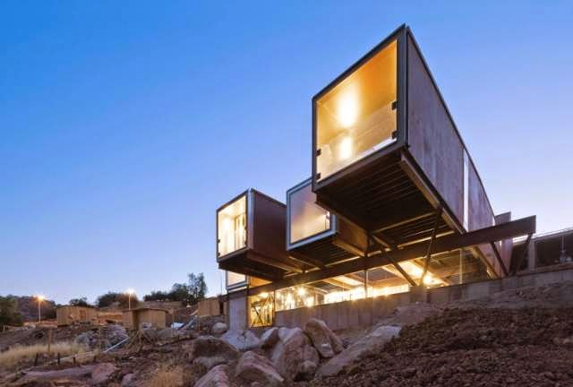 Shipping Container House - Caterpillar House