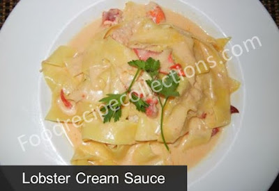 Recipe for lobster cream sauce