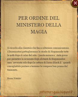 L3C10M2: avviso del Ministero della Magia
