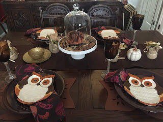 owl plate setting