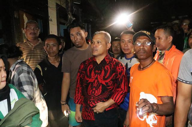 Barkati Tinjau Kebakaran Jl Ahmad Dahlan