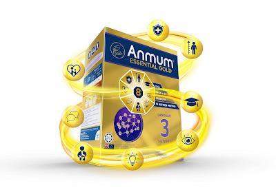 Anmum ESSENTIAL GOLD, susu terbaik, kebaikan anmum essential gold, anmum essential gold step 3,