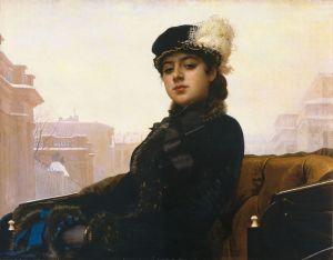 Portretul unei femei - Ivan Kramskoi