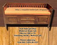 Jual Furniture Mebel Jati Jepara Bangku Bale Jati 2 Pintu