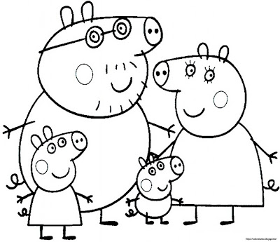 Peppa pig colouring pages christmas for Peppa pig coloring pages christmas