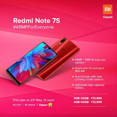 Redmi Note 7S launched -Technogienie