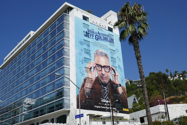 Giant Jeff Goldblum 2020 Emmy nominee billboard