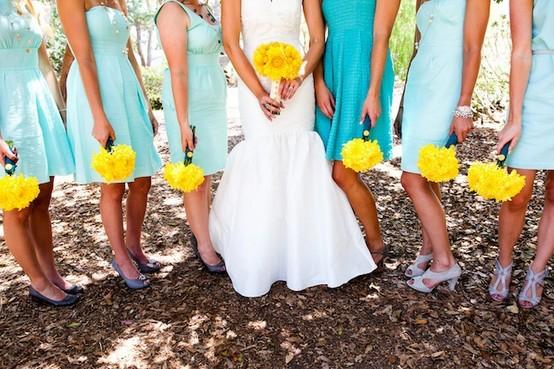 Turquoise And Yellow Wedding Ideas: Amando, Casando E Decorando: {Paleta De Cores] Turquesa E ...
