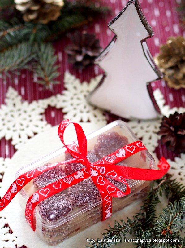 galaretki jablkowe, galaretka w cukrze, slodkosci domowej roboty, jablka, prezent, jadalne prezenty