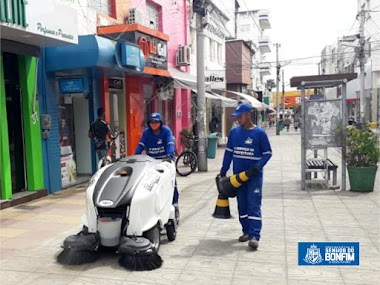 Serviço de limpeza pública traz novas tecnologias para Senhor do Bonfim