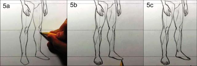 cara menggambar manusia tahap 5