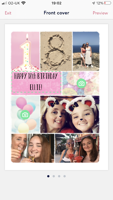 Moonpig app photograph birthday card