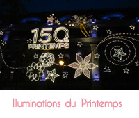 illuminations de Noël du Printemps