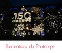 illuminations de Noël du Printemps