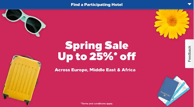 Hilton希爾頓春季閃促~周末入住歐洲、中東、非洲酒店~最多可享七五折優惠
