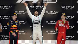 FÓRMULA 1 (Mundial 2019) - El británico Lewis Hamilton cierra el Mundial con un nuevo triunfo en Abu Dhabi, y Carlos Sainz acabando 6º de la general