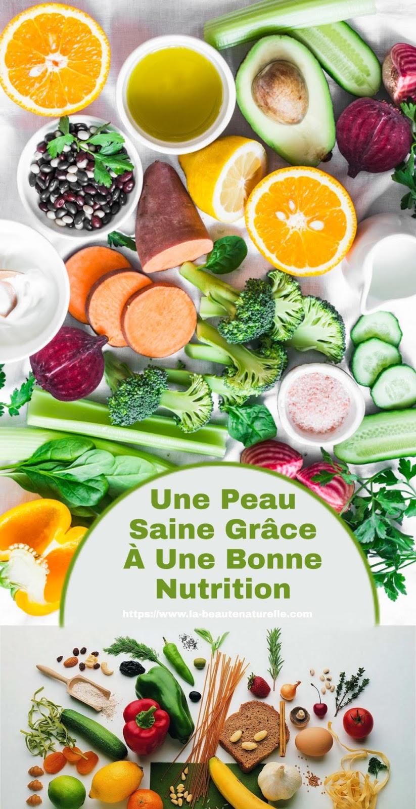 Une Peau Saine Grâce À Une Bonne Nutrition