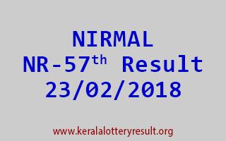 NIRMAL Lottery NR 57 Results 23-02-2018