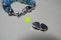 Herz außen: A TE® Armband Charms Damen Kristall Blau Muranoglas Blume Glasperle Mädchen Geschenk Frauen #JW-B94