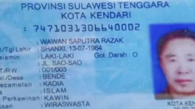 WNA Asal China Bikin KTP di Jakarta, Ditangkap di Jayapura