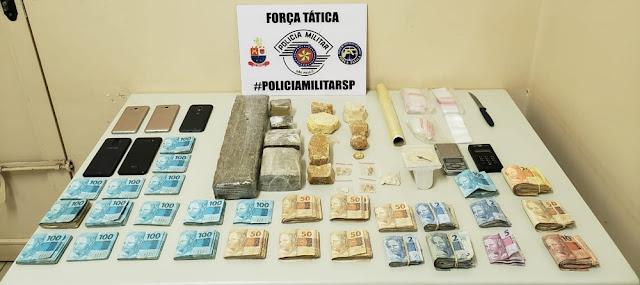 Mãe e filho são presos com drogas e mais de R$ 27 mil em dinheiro em Presidente Prudente