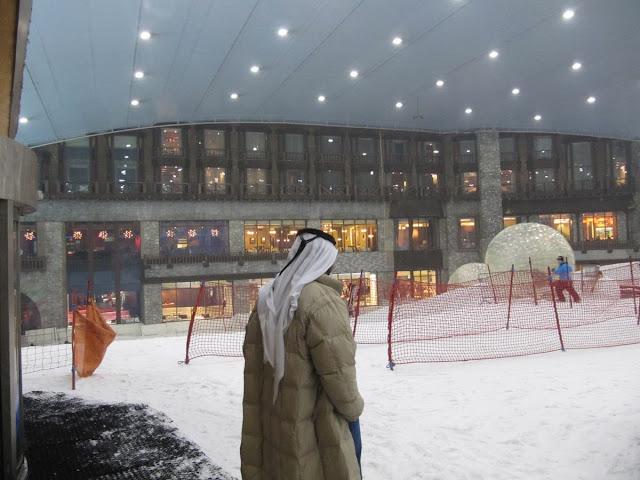 Dubai ski, pista indoor, pista esqui artificial