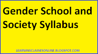 gender school and society b.ed second year syllabus pdf in hindi and engilsh free download