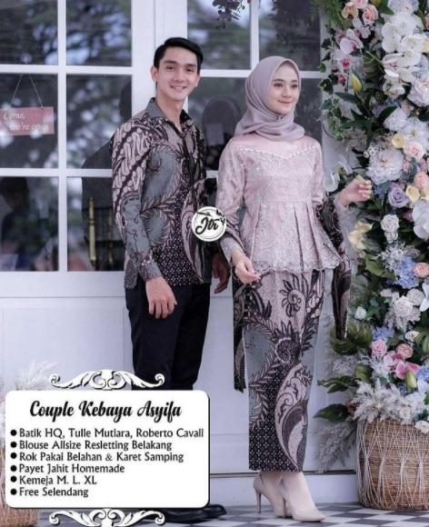Couple Batik Dengan Brukat